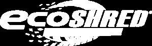 eco shred logo white