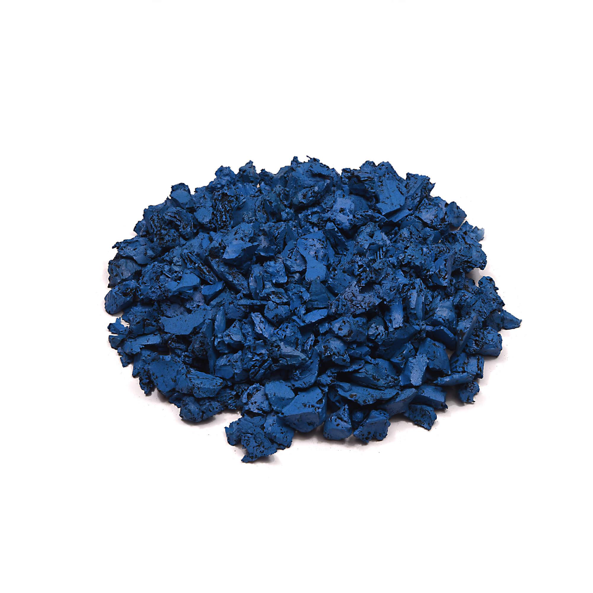 Caribbean Blue rubber mulch