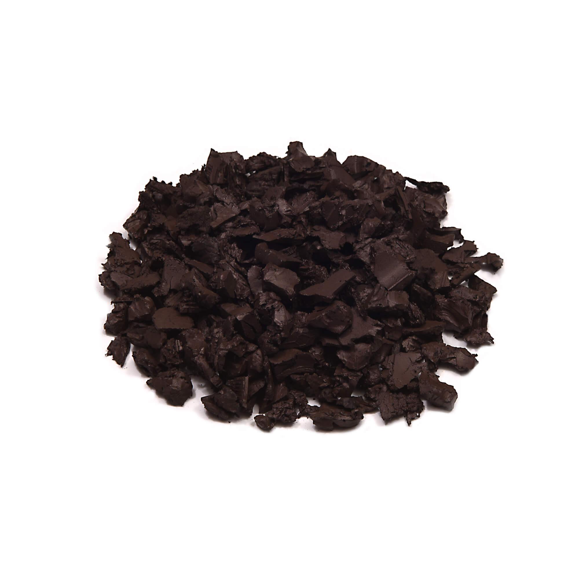 dark brown color rubber mulch
