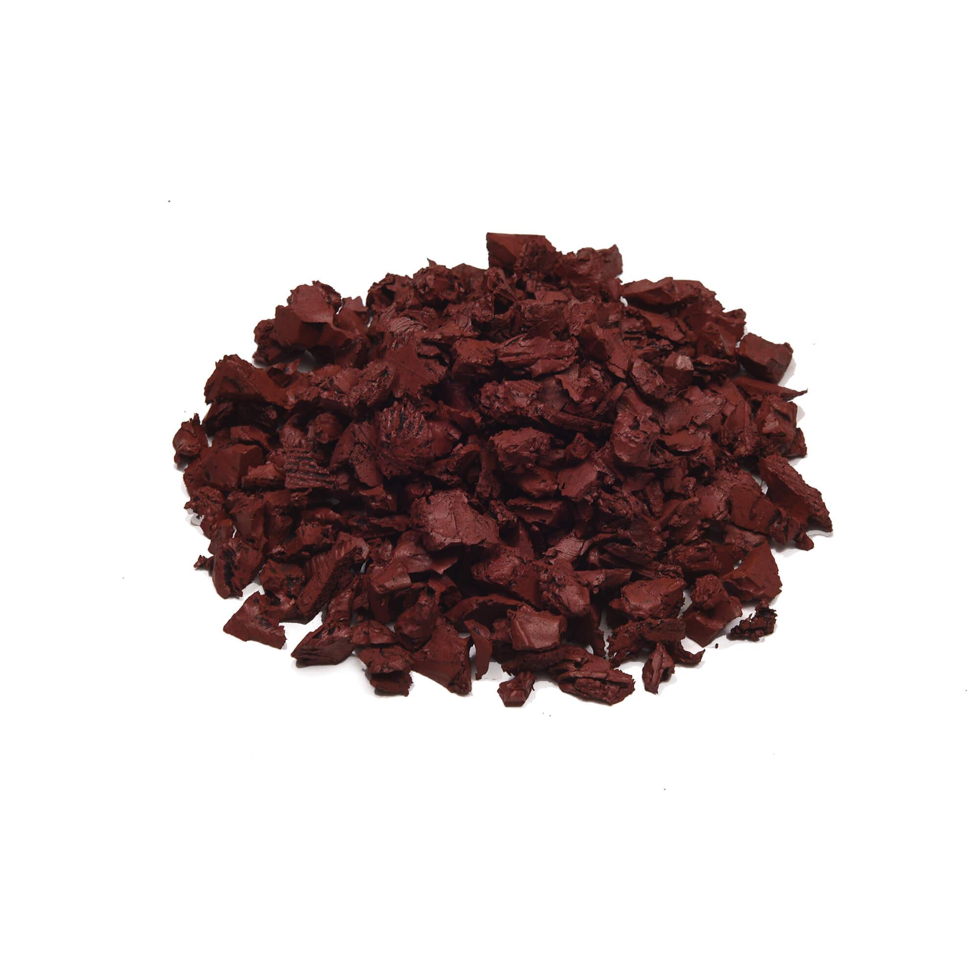 red brick color mulch