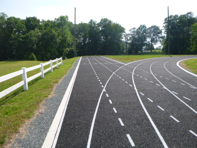 recycled rubber track and field facility