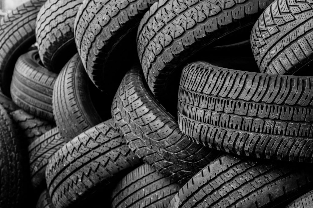 pile of tires for recycling