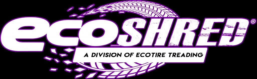 ecoSHRED - Logo - Purple and White - Rubber Mulch